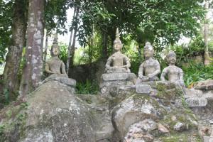 Skulpturen im Magic Buddha Garden auf der Insel Koh Samui in Thailand