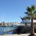 Yacht in der Marina Port Vell