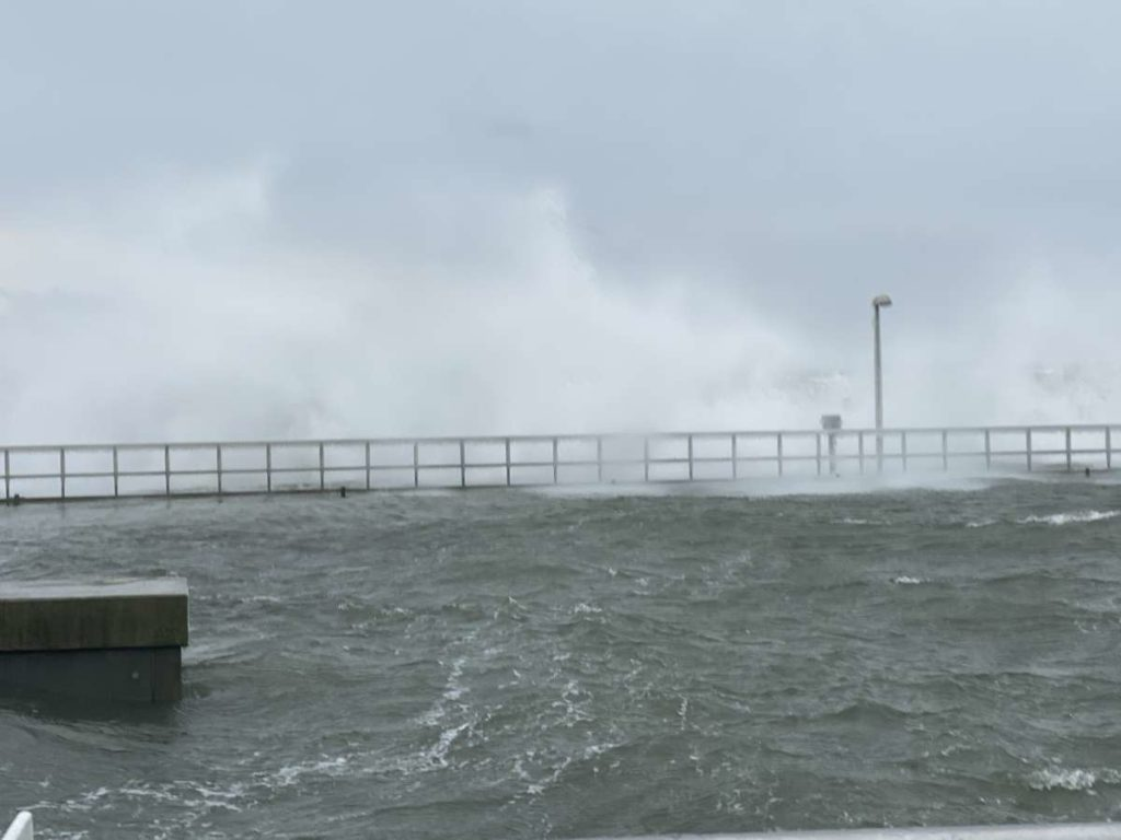 Olympiahafen Kiel-Schilksee Sturm Februar 2021