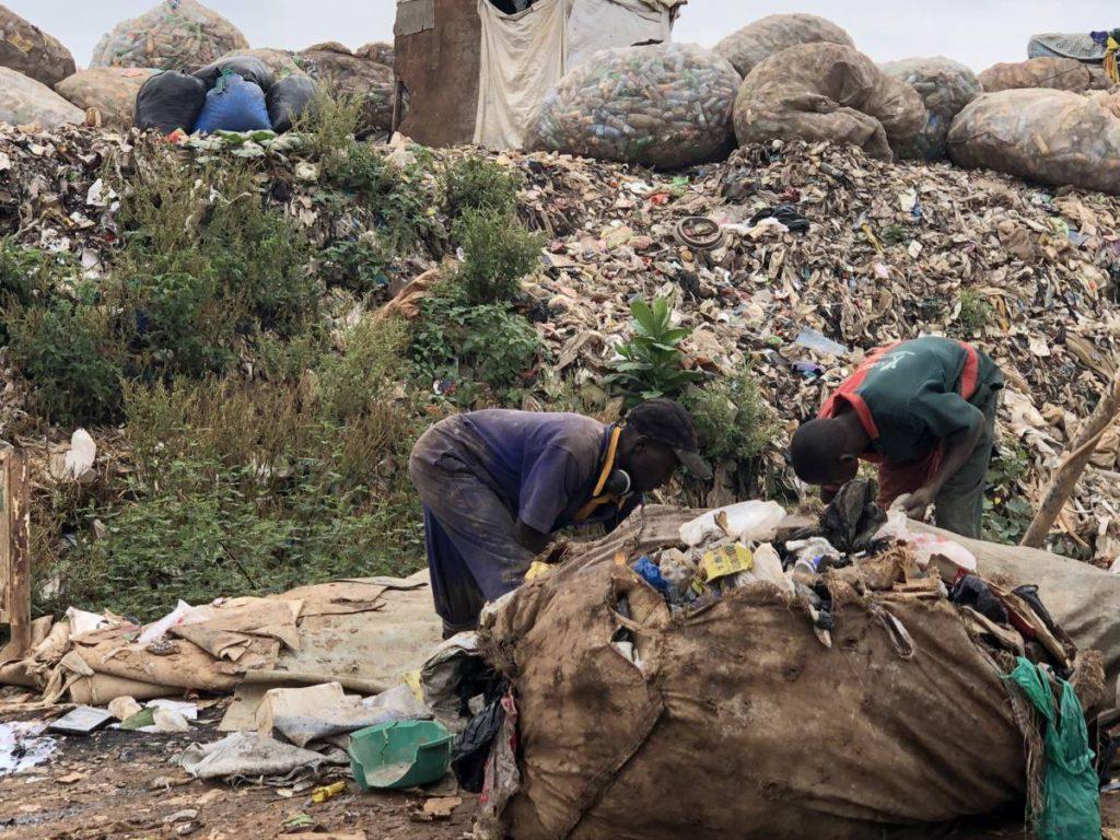 Müllsammler Mülldeponie Kampala Uganda