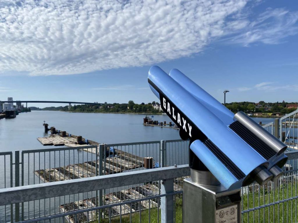 Nord-Ostsee-Kanal Kiel Aussichtsplattform