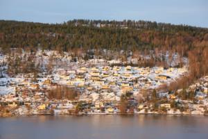 Winterlandschaft Oslo Fjord Norwegen