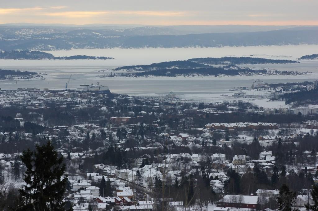 Oslofjord aufgenommen vom Holmenkollen