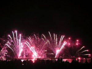 Ostsee in Flammen 2018 Feuerwerk Strand