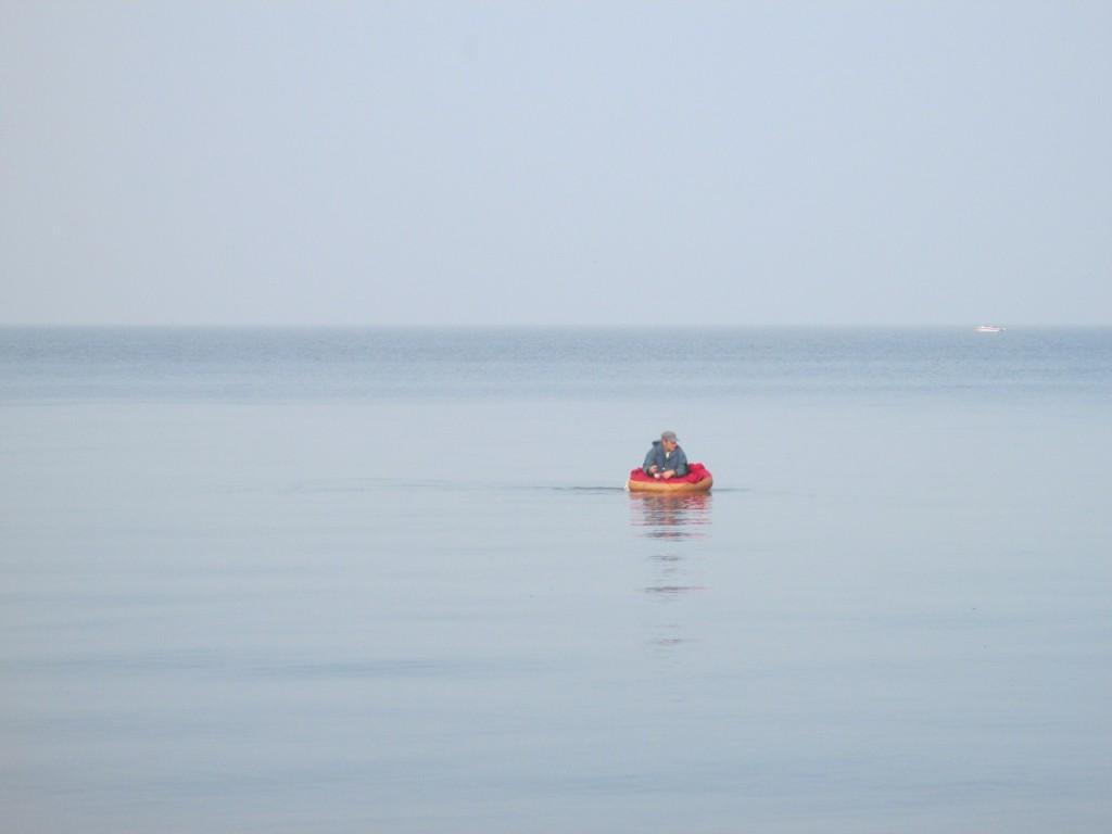 Im Schlauchboot auf der Ostsee