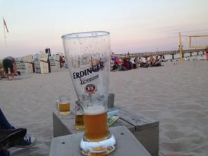Relaxen am Strand in der Ostseelounge Grömitz an der Seebrücke