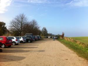 Parkplatz an der Steilküste Schwedeneck / Stohl nördlich von Kiel in Schleswig-Holstein
