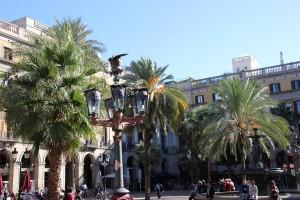 Placa Reial Barcelona - Laterne von Antoni Gaudi
