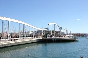 Rambla del Mar Barcelona Hafen