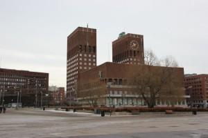 Rathaus Oslo Norwegen - Wahrzeichen der Stadt