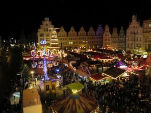 Rostocker Weihnachtsmarkt vom Riesenrad