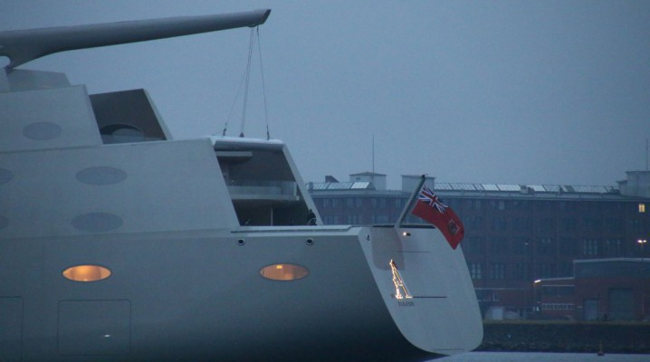 Heck der Sailing Yacht A