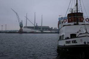 Sailing Yacht A in der Kieler Werft Geman Naval Yards