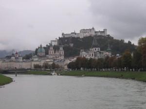 Salzach und Festung Hohensalzburg