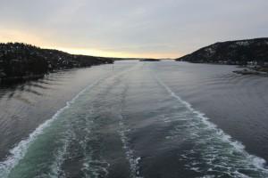 Mit dem Schiff durch den Oslofjord