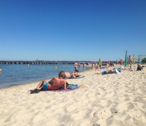 Sommer in Kiel Schilksee am Strand