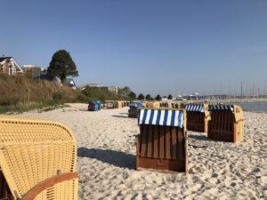 Strandkörbe Strand Schilksee