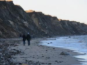 Spaziergang an der Steilküste Schwedeneck Stohl nördlich von Kiel