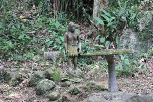 Skulpturen im Secret Buddha Garden Koh Samui