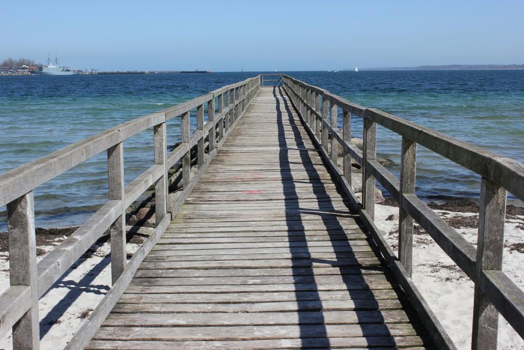 Seebrücke Eckernförde an der Eckernförder Bucht