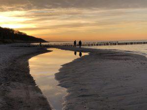 Sonnenuntergang Ostsee Nienhagen Strand