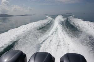 Mit dem Speed Boot nach Koh Tao