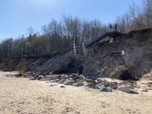 Treppe Steilküste Schilksee
