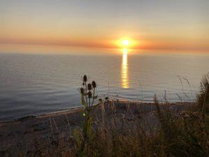 Sonnenaufgang Steilküste Stohl an der Ostsee