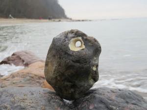 Stein mit Loch - Hühnergott an der Ostsee bei Kiel