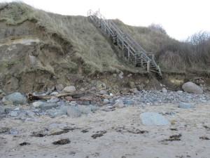Stohl Steilküste Holztreppe zur Ostsee