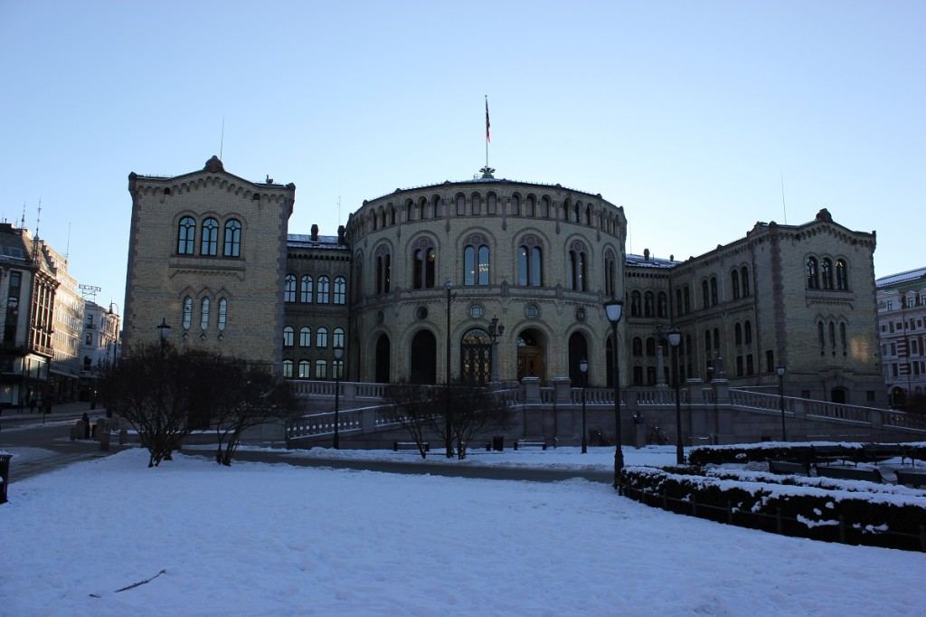 Parlament von Norwegen in Oslo
