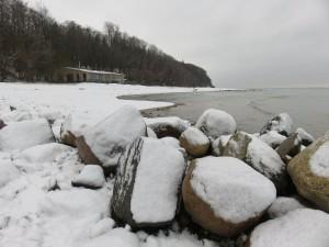 Strand Dänisch-Nienhof im Winter