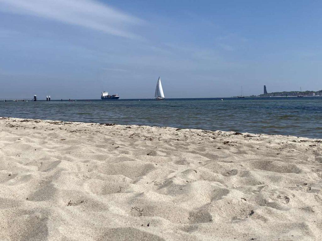Kiel Falckensteiner Strand Schiffe Kieler Förde