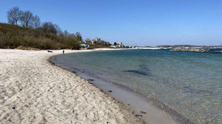 Strand Kiel-Schilksee Frühling 2020