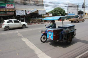 Mobiler Eisverkäufer in Surat Thani