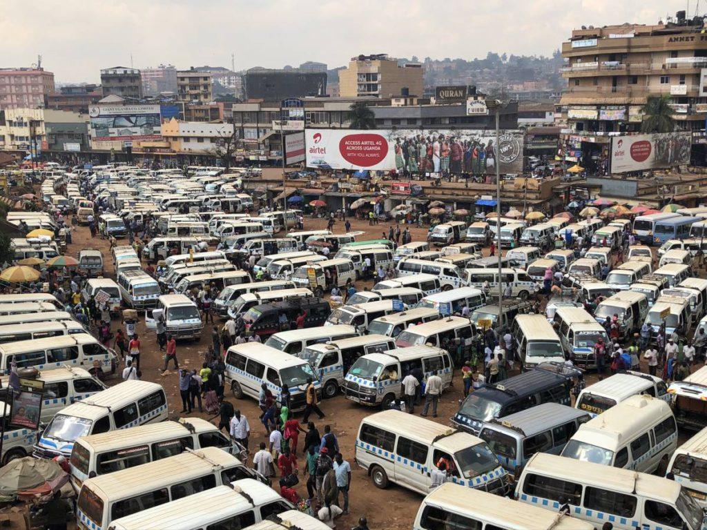 Old Taxi Park Kampala in Uganda