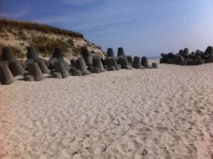 Tetrapoden in Hörnum auf Sylt am Strand der Nordsee