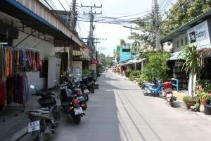 Seitenstraße in Thong Sala auf Koh Phangan