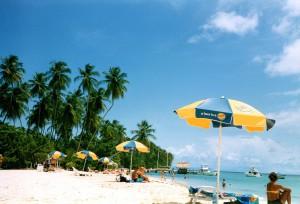 Relaxen am Strand auf Tobago