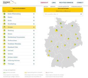 Startseite Digitaler Tourismus-Wegweiser der Bundesregierung