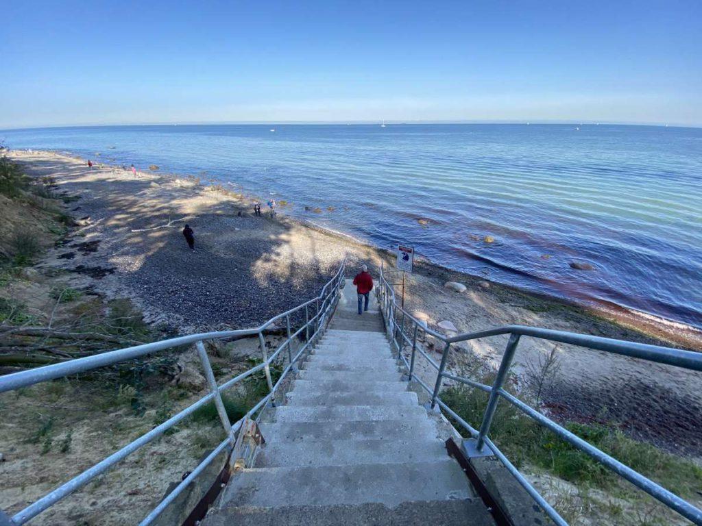 Treppe Steilküste Elmenhorst Ostsee