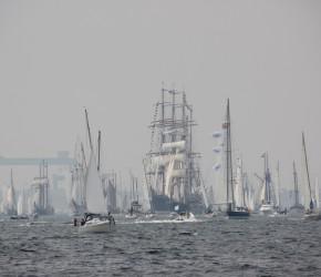 Windjammerparade zur Kieler Woche 2015 auf der Kieler Förde am 27.06.2015