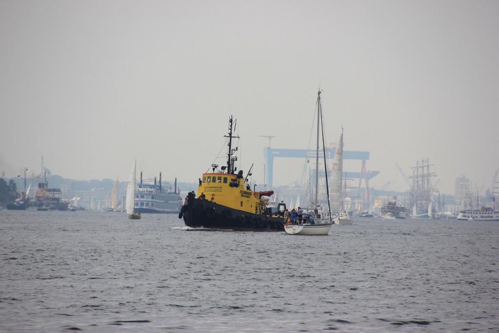 Schiffe auf der Kieler Förde, Windjammerparade 2014 zur Kieler Woche am 28.06.2014