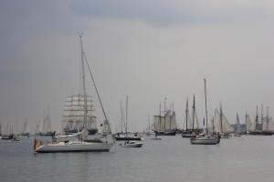 Kieler Förde, Windjammerparade 2014 zur Kieler Woche am 28. Juni 2014 Höhe Falkensteiner Strand